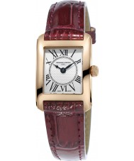 Frederique Constant FC-200MC14 Ladies Classics Carree Dark Red Leather Strap Watch
