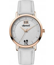Disney by Ingersoll ID00502 Ladies Union White PU Leather Strap Watch