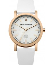 French Connection FC1250WRG Ladies White Padded Leather Watch