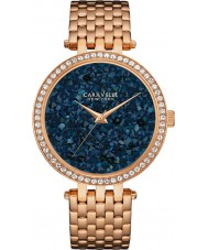 Caravelle New York 44L186 Ladies Rock Crystal Rose Gold Steel Bracelet Watch