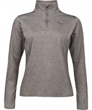 Protest 3610762-494-L-40 Ladies Fabrizom 16 Heather Grey Zip Top - Size L (40)