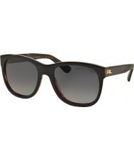 Ralph Lauren RL8141 56 Heritage Collection Top Black on Jerry Havana 5260T3 Polarized Sunglasses