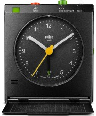 Braun BNC005BKBK Motion Actived Snooze Alarm Clock - Black