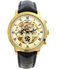 Rotary GS02375-01 Mens Timepieces Gold Plated Skeleton Automatic Watch