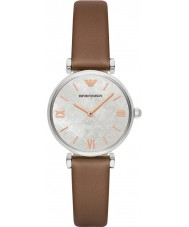 Emporio Armani AR1988 Ladies Dress Light Brown Leather Strap Watch