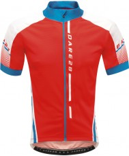 Dare2b Mens Signature Tour Fiery Red Jersey