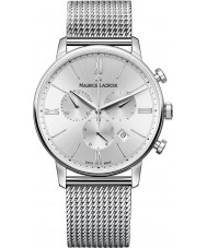 Maurice Lacroix EL1098-SS002-110-1 Mens Eliros Silver Steel Chronograph Watch