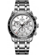Rotary GB90169-02 Mens Timepieces Legacy Silver Chronograph Watch