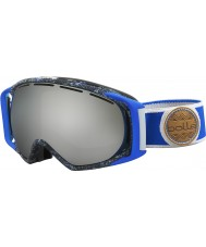 Bolle 21455 Gravity Blue and Grey Splatter - Black Chrome Ski Goggles
