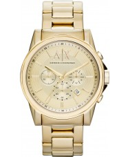 Armani Exchange AX2099 Mens Gold Plated Chronograph Dress Watch