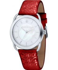 Klaus Kobec KK-10011-02 Ladies Evelyn Red Embross Pattern Leather Strap Watch