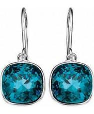 Charles Conrad E4061T Ladies Indicolite Swarovski Crystal Drop Earrings