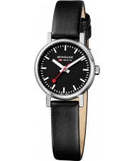 Mondaine A658-30301-14SBB Evo Petite Black Leather Strap Watch