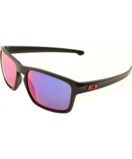 Oakley OO9262-20 Sliver Matte Black - Positive Red Iridium Sunglasses
