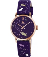 Radley RY2340 Ladies Meadow Eggplant Printed Strap Watch