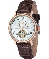 Thomas Earnshaw ES-8047-05 Mens Beaufort Brown Crock Leather Strap Watch