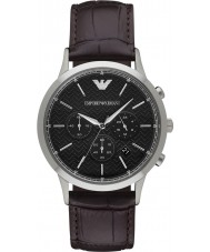 Emporio Armani AR2482 Mens Classic Chronograph Dark Brown Leather Strap Watch