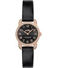 Coach 14502670 Ladies Delancey Black Leather Strap Watch