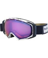 Bolle 21456 Gravity White and Blue - Aurora Ski Goggles