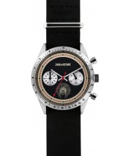 Zadig and Voltaire ZVM107 Master Black Leather Chronograph Watch