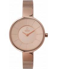 Obaku V149LXVVMV Ladies All Rose Gold Plated Mesh Bracelet Watch