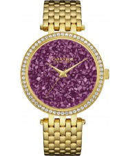 Caravelle New York 44L212 Ladies Rock Crystal Gold Steel Bracelet Watch