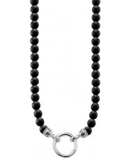 Thomas Sabo KE1102-023-11-M Mens Black Obsidian Beaded Necklace