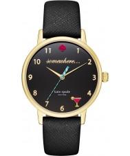Kate Spade New York KSW1039 Ladies Metro Black Leather Strap Watch
