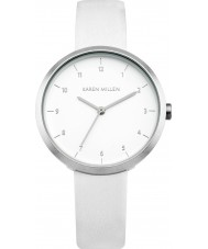 Karen Millen KM135W Ladies White Leather Strap Watch
