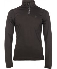 Protest Mens Willowy True Black Zip Top