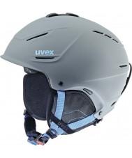 Uvex 5661535407 P1us Grey Blue Ski Helmet - 59-62cm