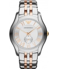 Emporio Armani AR1824 Mens Classic Silver and Rose Gold Watch