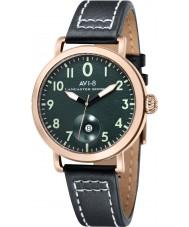 AVI-8 AV-4020-05 Mens Lancaster Bomber Black Leather Strap Watch