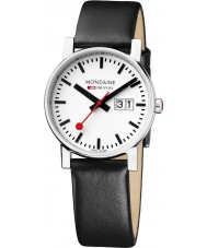 Mondaine A669-30305-11SBB Ladies Evo Big Date Black Leather Strap Watch