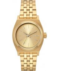 Nixon A1130-502 Ladies Medium Time Teller All Gold Steel Watch
