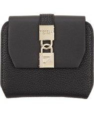 Fiorelli FS0862-BLACK Ladies Evie Large Black Flap Over Purse