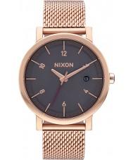 Nixon A1087-2449 Mens Rollo 38 SS All Rose Gold Steel Bracelet Watch