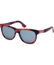 Diesel DL0076 Red Print Sunglasses