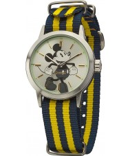 Disney by Ingersoll DIN006SLYL Ladies Classic Mickey Mouse Blue and Yellow Nylon Strap Watch