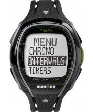 Timex TW5K96400 Ironman 150-Lap Full Size Sleek Black Resin Strap Chronograph Watch