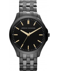 Armani Exchange AX2144 Mens Black IP Steel Bracelet Dress Watch
