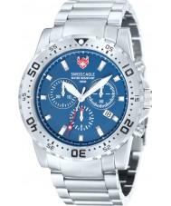 Swiss Eagle SE-9008-33 Mens Dive Fleet Blue Silver Chronograph Watch