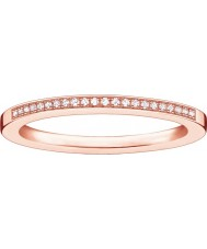 Thomas Sabo D-TR0006-923-14-52 Ladies Glam and Soul Rose Gold Plated Diamond Ring - Size M.5 (EU 52)