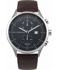 French Connection FC1266UT Mens Brown Leather Strap Watch