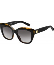 MaxMara Ladies MM Prism I UVP EU Black Tortoise Sunglasses