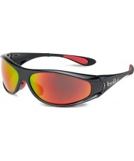 Bolle Spiral Shiny Black Red Polarized TNS Fire Sunglasses
