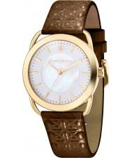 Klaus Kobec KK-10011-04 Ladies Evelyn Brown Embross Pattern Leather Strap Watch