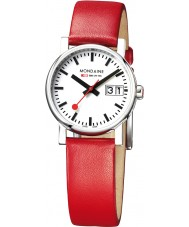 Mondaine A669-30305-11SBC Ladies Evo Big Date Red Leather Strap Watch