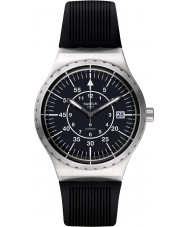 Swatch YIS403 Mens Sistem Arrow Black Rubber Strap Watch