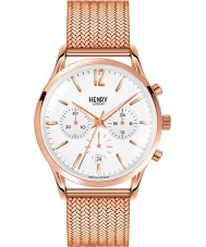 Henry London HL41-CM-0040 Mens Richmond White Rose Gold Chronograph Watch